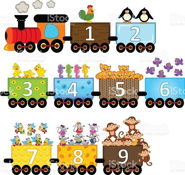 Tren de los números y animales