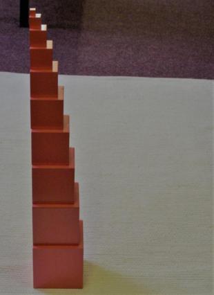 la torre rosa montessori y las matemáticas