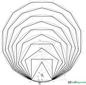 poligonos regulares y circunferencia